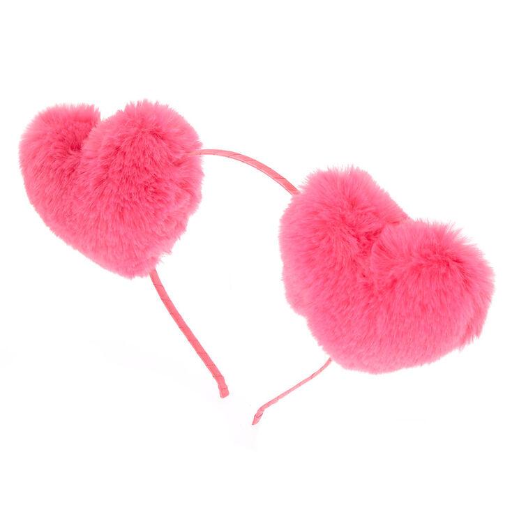 Fur Heart Headband - Pink  38ca9433a15