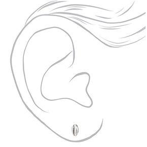 Clous d'oreilles cauris couleur argentée,