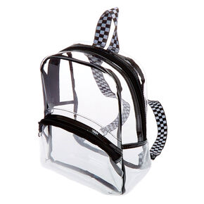 Black Trim Small Backpack - Clear,