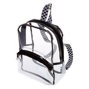 Petit sac à dos à bordure noire - Transparent,