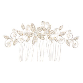Faux Pearl Floral Cluster Hair Comb,