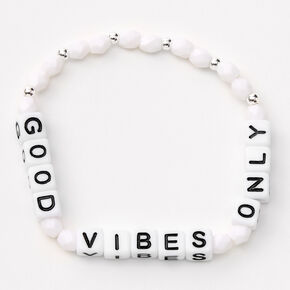 Good Vibes Only Beaded Stretch Bracelet Set - 3 Pack,