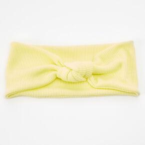 Bandeau noué côtelé - Citron,