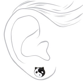 Panda Yin Yang Stud Earrings,