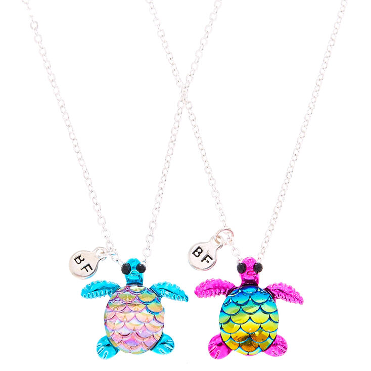 Best Friends Metallic Turtle Necklaces,