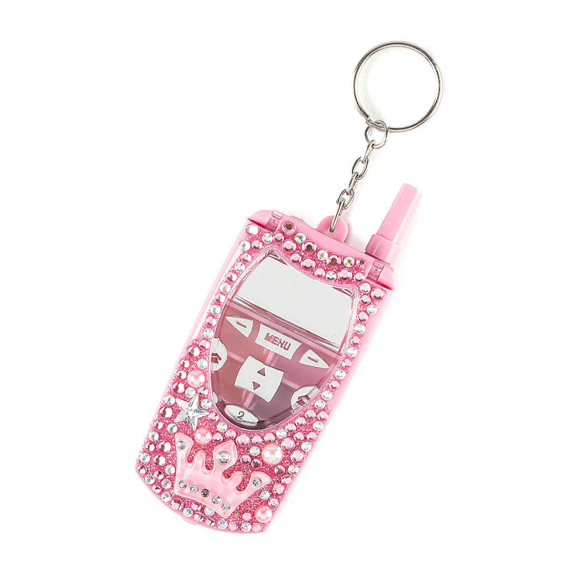 Porte cl t l phone cellulaire avec couronne et brillants for Porte telephone