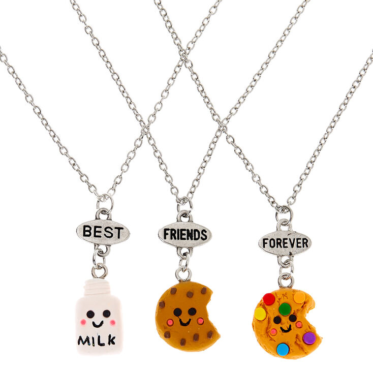 Best Friends Milk & Cookies Pendant Necklaces - 3 Pack,