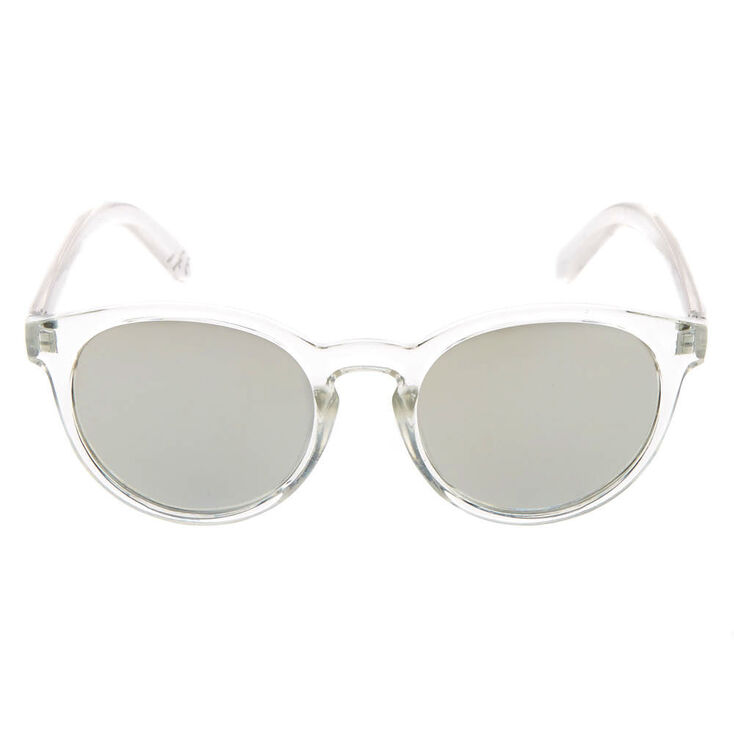 Round Tinted Sunglasses - Clear,