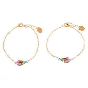 20dc07af032 Gold Rainbow Chain Friendship Bracelets - 2 Pack
