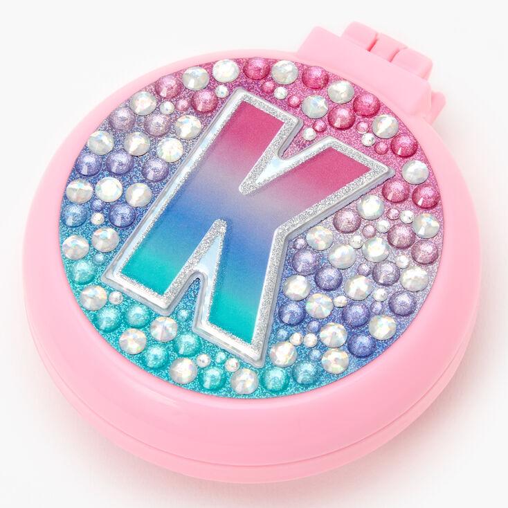 Initial Pop-Up Hair Brush - Pink, K,