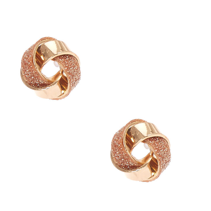 9c1472a63 Rose Gold Knotted Stud Earrings | Claire's