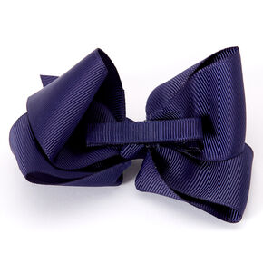 Claire's Club Ribbon Hair Bow Clips - Navy, 2 Pack,