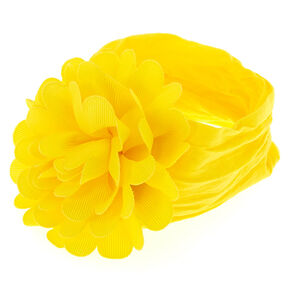 Claire's Club Flower Headwrap - Yellow,