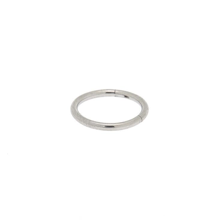 Silver 16G Sleek Cartilage Clicker Hoop Earring,