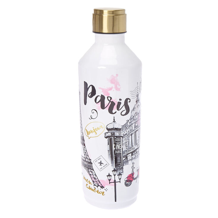 Paris Print Stainless Steel Water Bottle Claire S Us