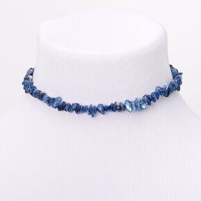 Puka Shell Choker Necklace - Blue,