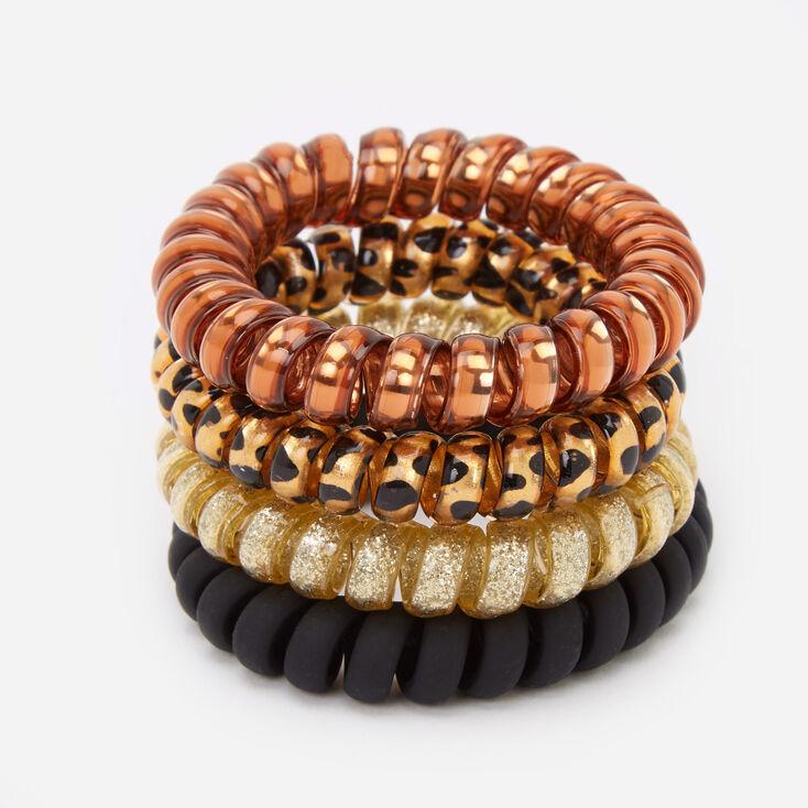 Animal Chic Spiral Hair Ties - 4 Pack,