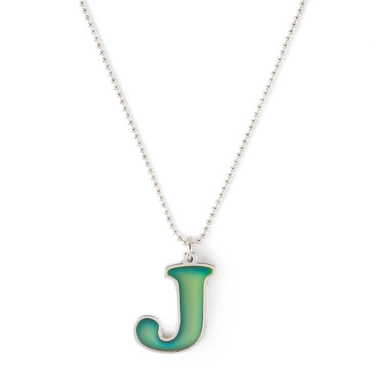 Mood initial j pendant necklace claires us mood initial j pendant necklace aloadofball Gallery