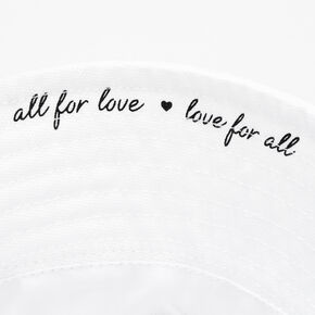 All For Love Bucket Hat - White,