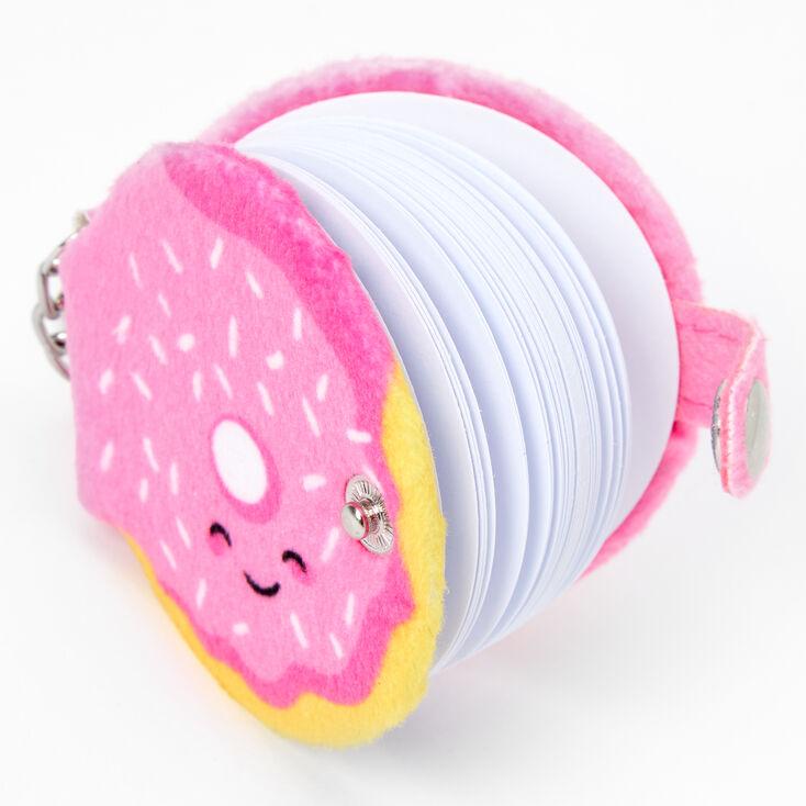 Furry Donut Mini Diary Keychain - Pink,
