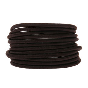 Jumbo Hair Ties - Brown, 12 Pack,