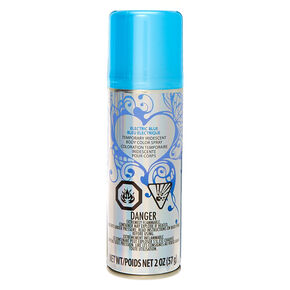 Temporary Iridescent Body Colour Spray - Electric Blue,