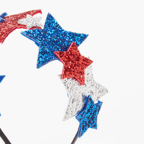Red, White, And Blue Glitter Star Headband,