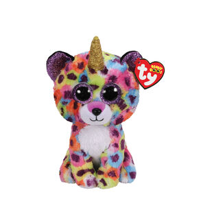 24df120d82c Ty Beanie Boo Small Giselle the Unicorn Leopard Plush Toy