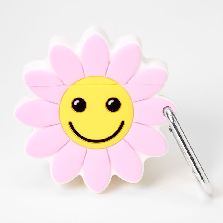 Smiling Sunflower Earbud Case Cover - Compatible with Apple AirPods®,