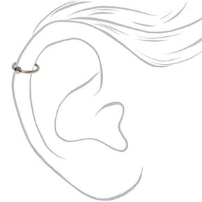 Mixed Metal Titanium 16G Assorted Cartilage Earrings - 3 Pack,