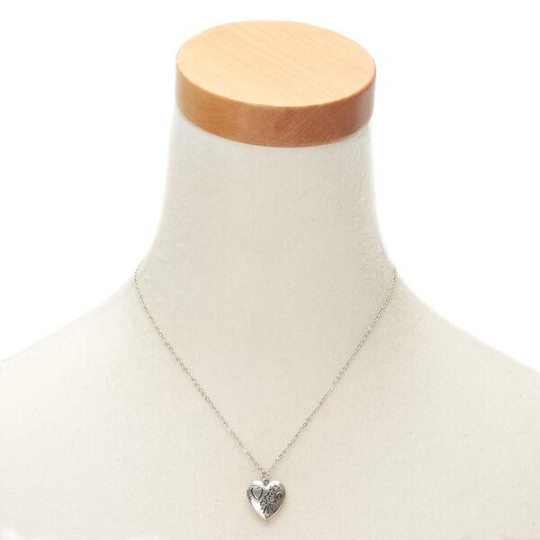 Claire's - engraved heart locket pendant necklace - 2