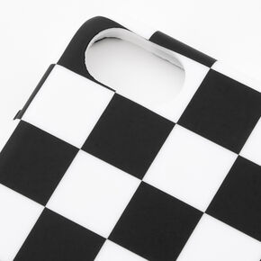 Black & White Checkered Phone Case - Fits iPhone 6/7/8/SE,