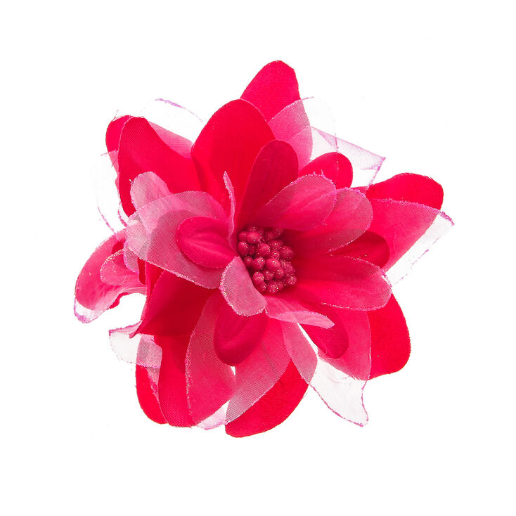 Pink Double Lily Hair Clip