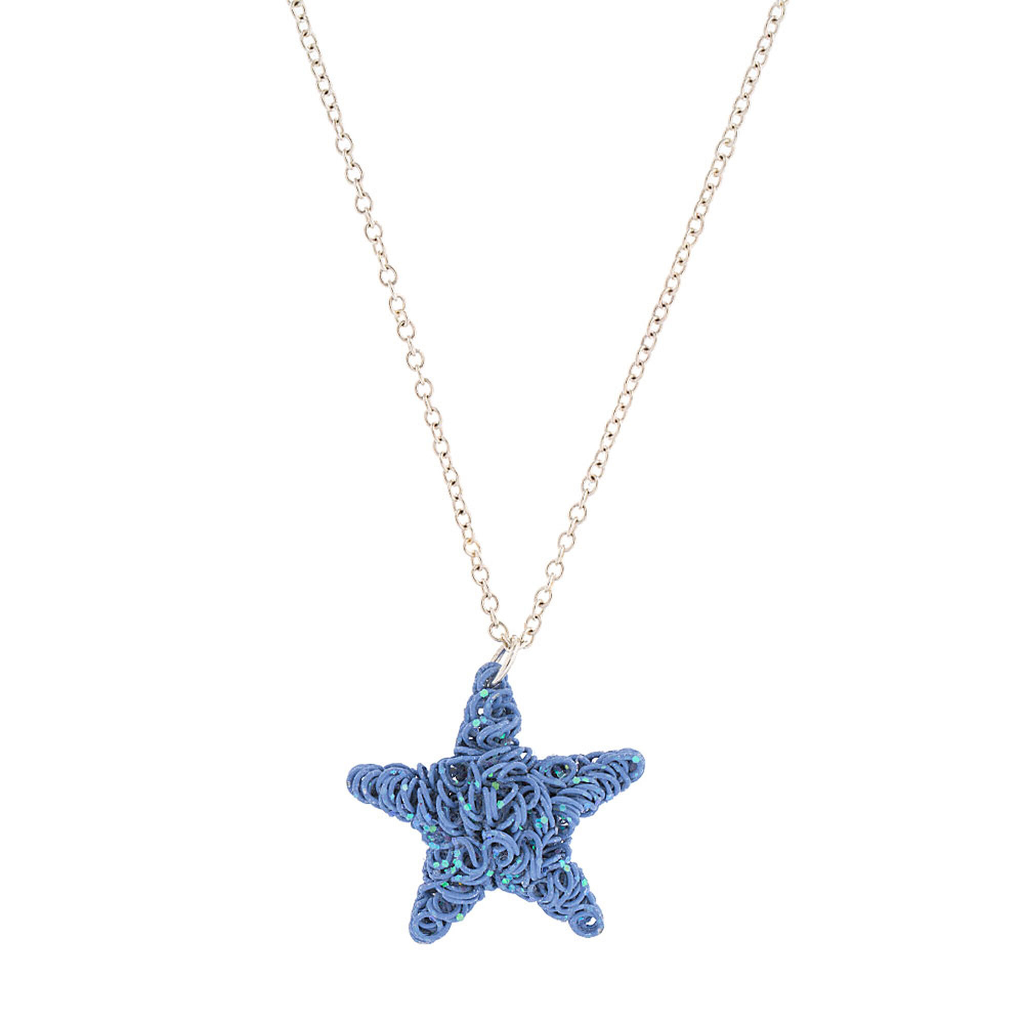 necklace blue m star poshmark jewelry listing lee silver pendant fish cookie
