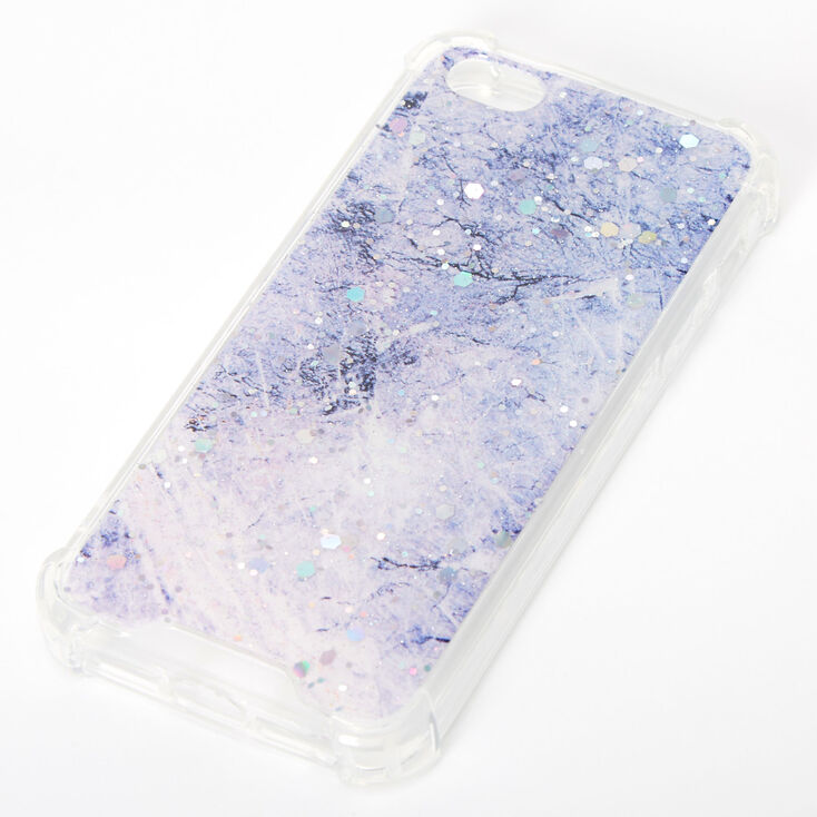 Purple Glitter Marble Protective Phone Case - Fits iPhone 5/5S,