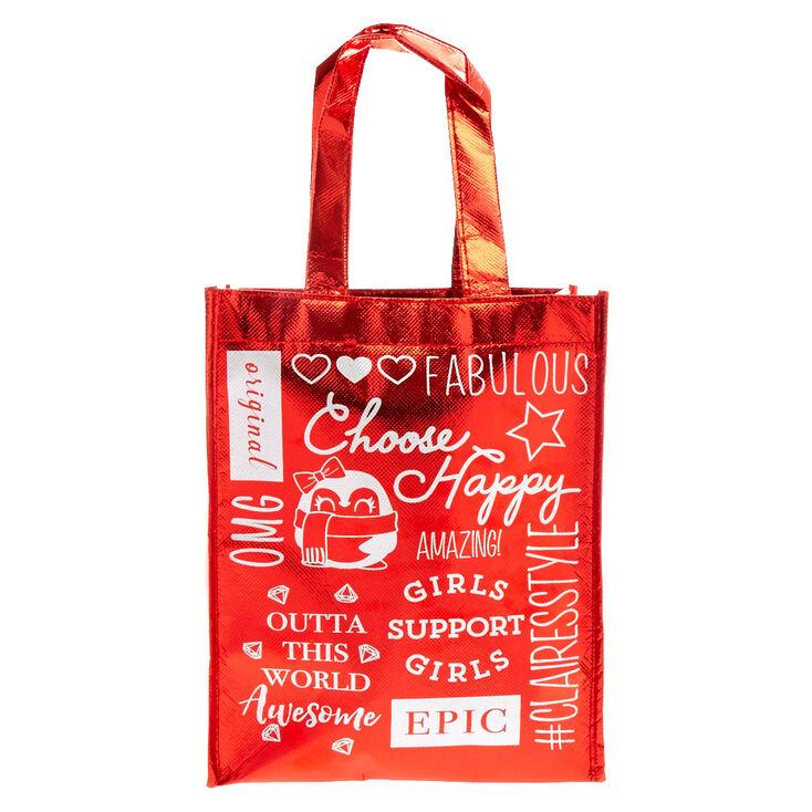 Small Holiday Reusable Tote Bag