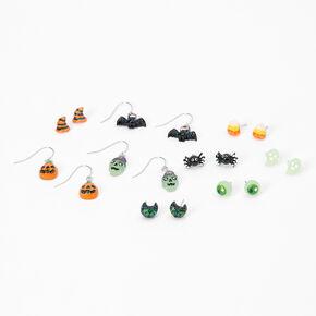 Halloween Glow In The Dark Earrings - 9 Pack,