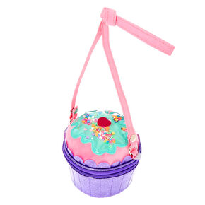 Claire's Club Cupcake Crossbody Bag - Purple,