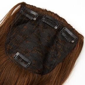 Extensions de cheveux synthétiques à clip couronne booster - Brun,
