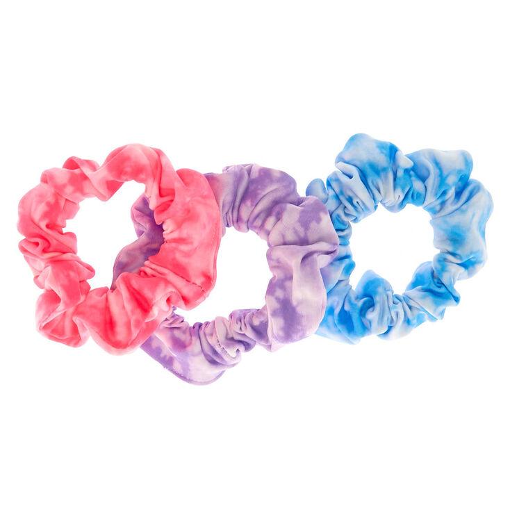 Small Pastel Tie Dye Hair Scrunchies - 3 Pack,