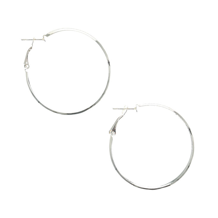 a0cd9ae8c Silver 40MM Hoop Earrings | Claire's