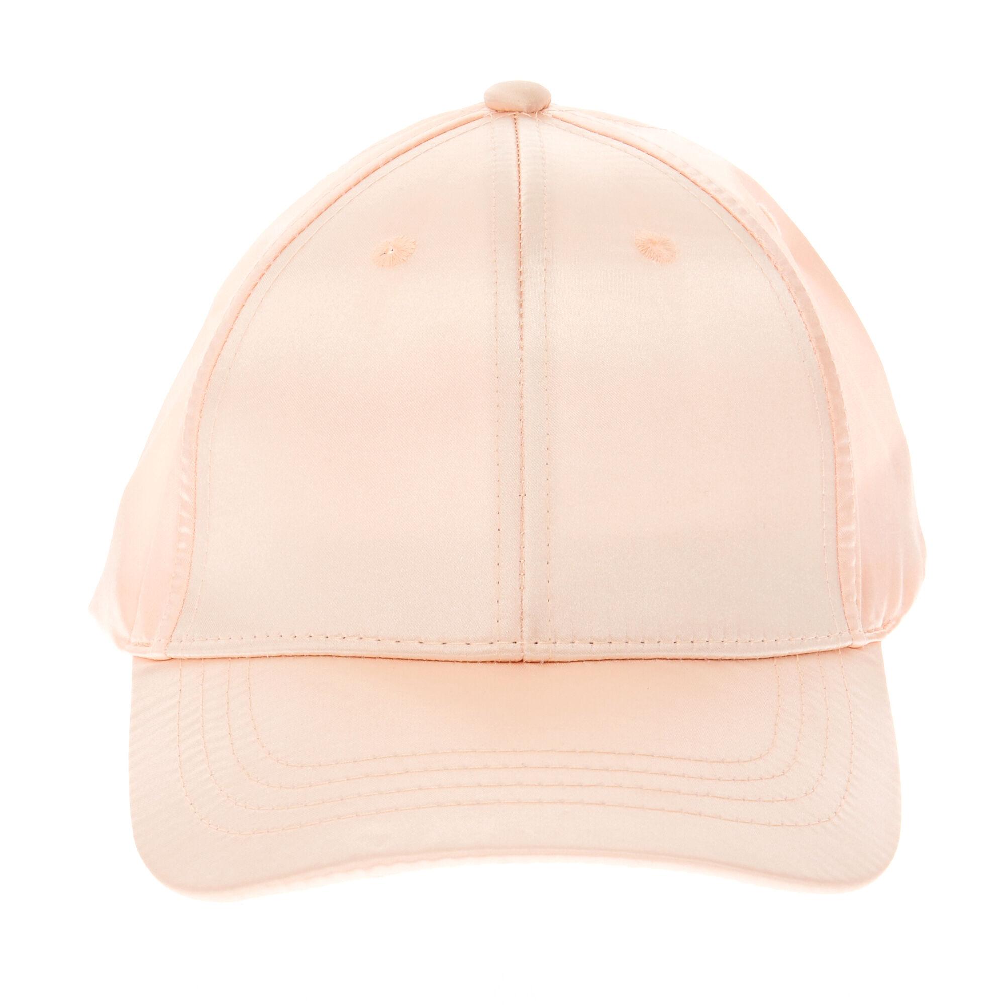 a3a96d99fd3 ... Pink Blush Satin Baseball Cap