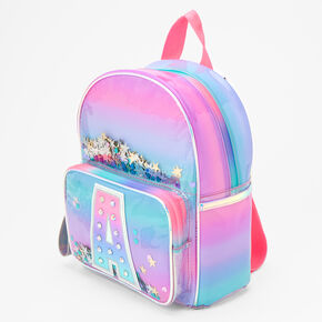 Ombre Shaker Initial Mini Backpack - A,