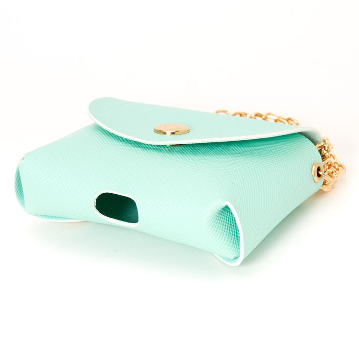 Pastel Mint Mini Purse Earbud Case Cover - Compatible With Apple AirPods,