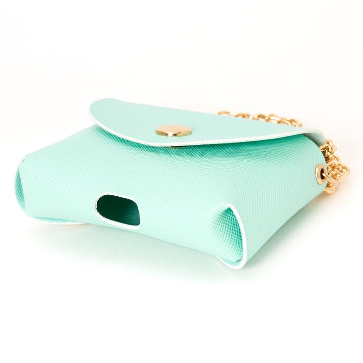 Étui pour écouteurs mini porte-monnaie vert menthe pastel - Compatible avec les AirPods® de Apple,