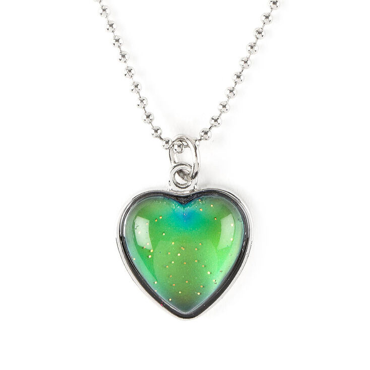 Mood heart pendant necklace claires us mood heart pendant necklace aloadofball Image collections