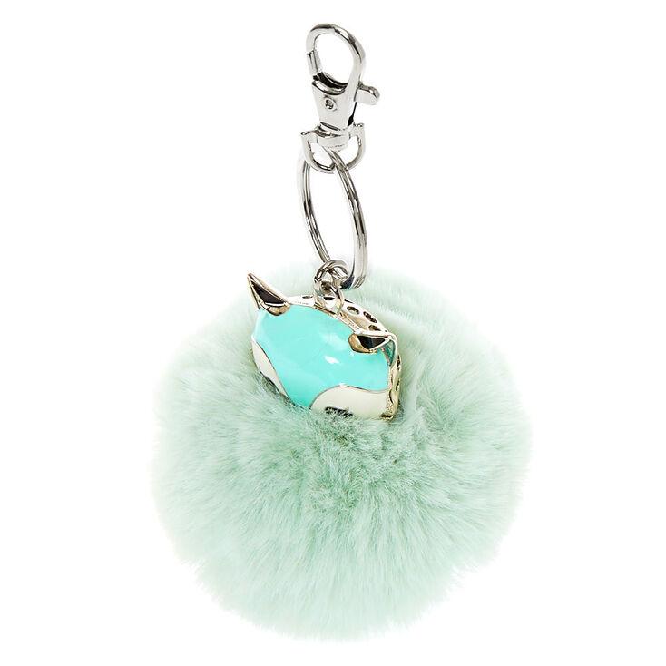 Trixie the Fox Pom Pom Keychain - Mint,