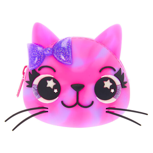 Claire's - sleepy the cat jelly coin purse - 1