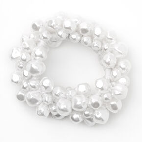 Chouchou en perles d'imitation nouées,