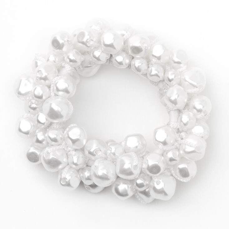 Knotted Pearl Hair Scrunchie,